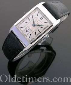 rare vintage sterling silver Rolex Prince Brancard wristwatch signed R. Breitling, Hermes Watch, Art Nouveau, Vintage Omega, Watch Companies, Vintage Watches, Omega Watch, 1930s, Rolex Watches