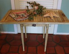 Vintage Shutter Table by RevisitedConcepts on Etsy, $143.00