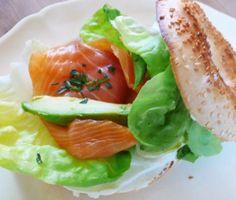 La recette minceur du Manhattan bagel au saumon