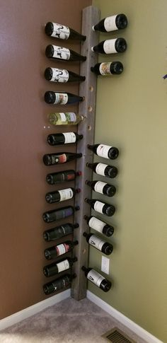 Best Picture For DIY Wine Rack small For Your Taste You are looking for something, and it is going t Wine Rack Storage, Wine Rack Wall, Spiral Wine Cellar, Home Wine Cellars, Rustic Wine Racks, Wine Cellar Design, Home Bar Designs, Wine Bottle Holders, Diy Pallet Furniture