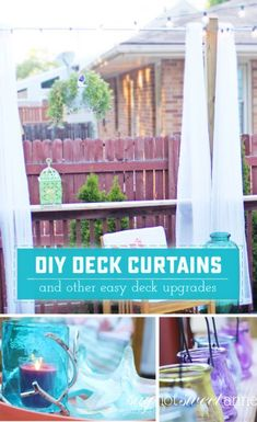 DIY Deck Curtains. E