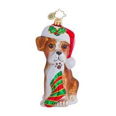 2012 Radko Boxer Bradley Animal Ornament