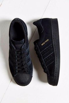 Shoes: adidas superstars superstar velvet nubuck new york sneakers black originals