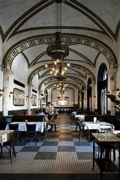 "theviiiiiiiiiiisual: ""I think a place can be as much a character in a novel as the people."" - Fannie Flagg One of the most beautiful coffee shops in the world: Callas Cafe, Budapest."