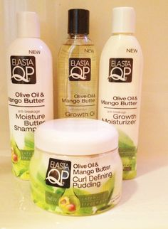 Elasta QP Olive Oil & Mango Butter Curly Hair Care Bundle