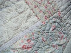 Timeless Tradition! French Country Lace Cotton Piece Patchwork Quilt! Bid Now, for a great cause; the 2012 Hay & Feed Fund!