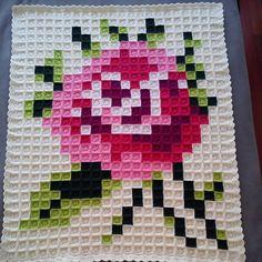 Rose baby pixel blanket by neslihan