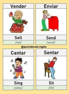 English Verbs, Spanish English, English Tips, English Class, English Grammar, English Language, Spanish Notes, Spanish Lessons, Spanish Vocabulary