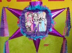 "PINATA Monster High /Piñata Hand Crafted 26x26x12[Holds 2-3 Lb. Of Candy][For Any Occasion] by Pinetera. $32.99. This Pinata measures:   Length= 26""   Height= 26""   Width=  12""  Hand Crafted Beautifully Detailed Traditional Cone Star shaped Piñata /Pinata with opening on top for stuffing candy's, toys and other items of your choice.  Pinata is Sturdy enough to hold 2-4 pounds of goodies.  This is the real thing, not a table decoration with strin..."