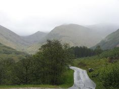 Scotland, UK: Road going to Steall Falls