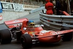 """Ronnie Peterson, March """"Tea Tray Wing""""."""