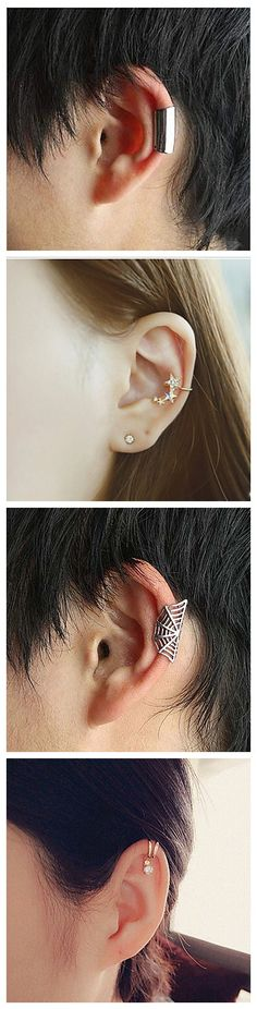 New to ear cuffs? Start small! These dainty earrings will help you make a subtle statement without being overbearing. Check them out!