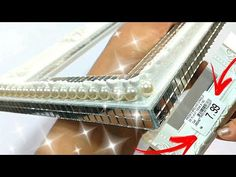 YouTube Mirror Box, Diy Mirror, Craft Stick Crafts, Diy And Crafts, Arts And Crafts, Diwali Craft, Glass Tray, Decoupage, Projects To Try