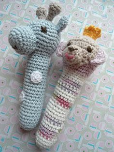 Me and Maya: Sweet crochet baby rattles pattern English and other language translations available