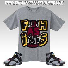 FRESH AS IM IS T-Shirt to match Jordan 7 Bordeaux sneakers