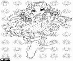 A young girl Moxie Girlz dancing coloring page