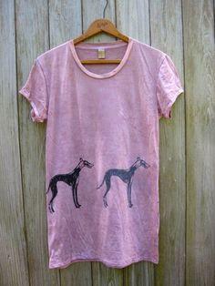 supa fly Greyhound Tshirt, Burnout Style, Pink Shirt, S,M,L,XL. $26.00, via Etsy.