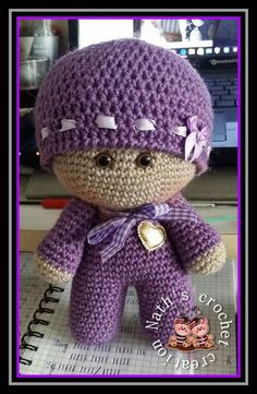 Knitted Dolls, Crochet Dolls, Crochet Baby, Amigurumi Doll, Amigurumi Patterns, Crochet Doll Pattern, Crochet Patterns, Big Head Baby, Crochet Christmas Trees