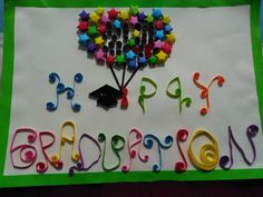 "Paper Quilling ""Happy Graduation"""