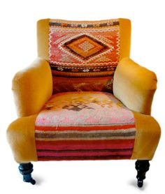 wing back chair redo   Inspiration #2: Wingback chair refashion   The Secret Costumier