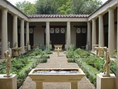 A Reconstruction of the garden of the house of the Vetti at Pompeii