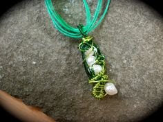 Crazy Peas in a Pod Necklaces by moonknightjewels on Etsy, $14.00