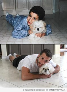Cute Overload: Internet`s best cute dogs and cute cats are here. Aww pics and adorable animals. Shih Tzu, Saint Yves, Recreated Family Photos, Dog Pictures, Funny Pictures, Inspiring Pictures, Funny Pics, Beautiful Pictures, Then And Now Photos