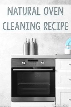 For natural oven cleaning, Baking Soda and water make a very effective, natural and non-toxic oven cleaner that costs pennies to make!