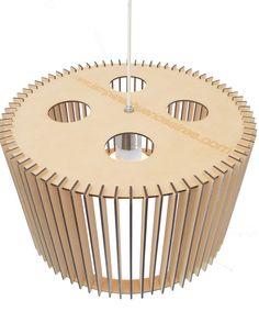 Lampara mdf 50 cm de diámetro