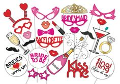 Hey, I found this really awesome Etsy listing at https://www.etsy.com/listing/184686792/bachelorette-party-photo-booth-props-set