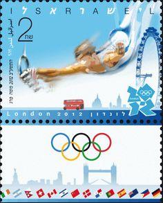 Israel 2012 London Olympic postage stamp
