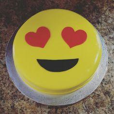 Heart Eyes Emoji Cake.