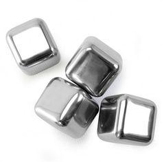 Centre du Rasoir : Danesco 8354554SS Cubes de Glace Réutilisables en Acier Inoxydable