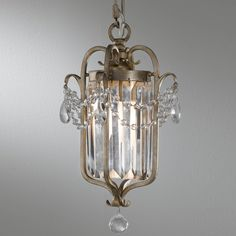 Have to have it. Murray Feiss F2474/1GS Gianna Mini Duo Chandelier - 7.5W in. Gilded Silver $225.00