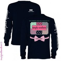 Simply Southern Bow Anchor Chevron Pattern Girlie Bright Long Sleeve T-Shirt from Simply Cute Tees. Simply Southern T Shirts, Southern Outfits, Preppy Southern, Southern Prep, Southern Style, Southern Gentleman, Southern Shirt, Southern Clothing, Southern Marsh