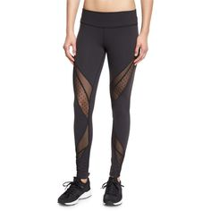 6152bdfe372f Beyond Yoga Swiss-Dot Mesh-Panel Long Sport Leggings (£57) ❤