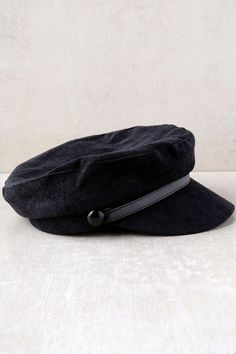 f21242a730e Be on top of all the latest trends with the Tip Top Black Corduroy Baker Boy