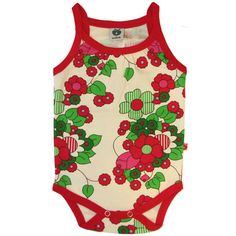Summer Flower Onesie - ittikid • Scandinavian Children's Clothes - Scandinavian Baby and Kids Clothes | Organic Eco Friendly Kids Clothes from Smafolk, Maxomorra, Duns Sweden, Sture & Lisa