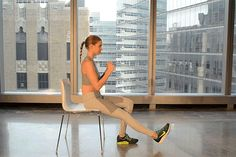 Chair & Band Exercises: How to do the Single-Leg Sit Squat