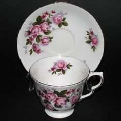 Queen Anne Pink Bouquet Teacup and Saucer