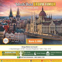 Eropa timur merupakan salah satu tempat destinasi menarik untuk para wisatawan. di Eropa timur banyak destinasi-destinasi unik yang dapat Sahabat kunjungi. Selain mempunyai banyak bangunan-bangungan khas yang klasik, dala Tour ke Eropa Timur ini Sahabat juga bisa mengunjungi tempat-tempat yang eksotik keindahannya. Rencanakan perjalanan halal tour Sahabat ke Eropa Timur bersama Wisata Muslim Halal dalam Paket 9 Hari 6 malam Tour Wisata Muslim Eropa Timur. Hubungi 0822-8000-1799 Visa Schengen, Bratislava, Budapest, Austria, Taj Mahal, Tours, Building, Travel, Viajes