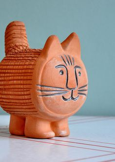 Oo! I remember these! I had a Xmas tree one :D - Chia Pet Cat  Lisa Larsen Style by MisterTrue on Etsy