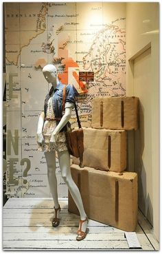 summer travel theme visual merchandising