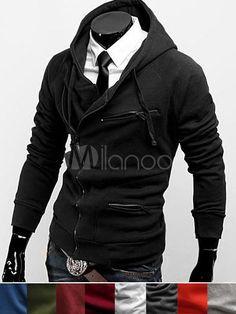 mens Fashion Jacket Korea Trend Leisure Stylish 2012 New Men Slim High Quality Luxury Casual Style Hooded jackets Mode Masculine, Sharp Dressed Man, Well Dressed, Cool Outfits, Fashion Outfits, Mens Fashion, Zip Up Hoodies, Sweatshirts, Mode Cool