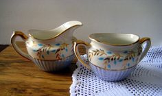 Vintage cream and sugar,Rare Gibson's china,fine bone china,china cream and sugar,vintage cream and sugar at Designs By Willowcreek on Etsy by DesignsByWillowcreek on Etsy