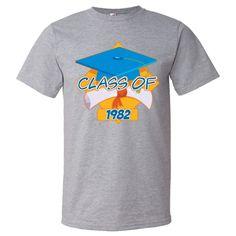 Graduation Class of 1982 Men's Fashion T-Shirts  #classof1982 #graduation #GradGifts