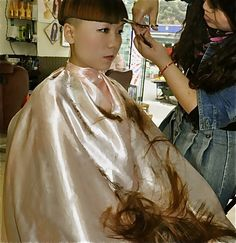 Forced Haircut From Barberette: Once His Girly Tresses Are Shorn And He's Exposed As The – name Long Hair Cut Short, Edgy Short Hair, Short Hair Styles, Mid Haircuts, Bowl Haircuts, Trendy Hairstyles, Wedding Hairstyles, Shaved Hair Cuts, Shaved Nape