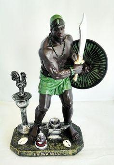 13 Inch Statue Orisha Ogun Yoruba Santeria Guerrero Ogum Warrior Lucumi Religion
