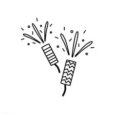 Illustration of party popper icon Party Poppers, Line Illustration, Illustrations, Christmas Icons, Instagram Highlight Icons, Simple Art, Free Images, Vector Free, Art Drawings