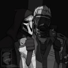 Overwatch Soldier76 and Reaper